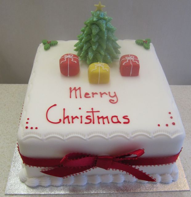 Square Xmas Cake Designs : Christmas Lines - Rathbones Bakery Upholland