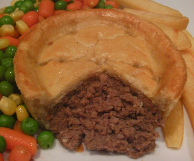 Minced Beef Pie. Available daily. & Pies Pasties and Hot Plate Goods. - Rathbones Bakery Upholland