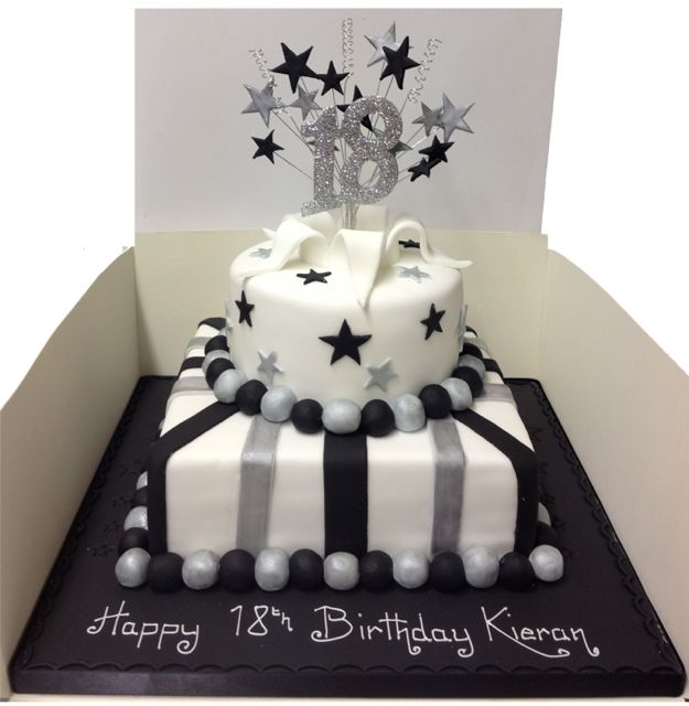 18th Birthday Two Tier cake. 9inch Sq & 6 Inch Round. Available in ...